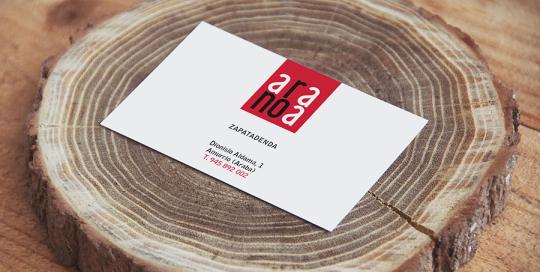 tarjeta de visita aranoa