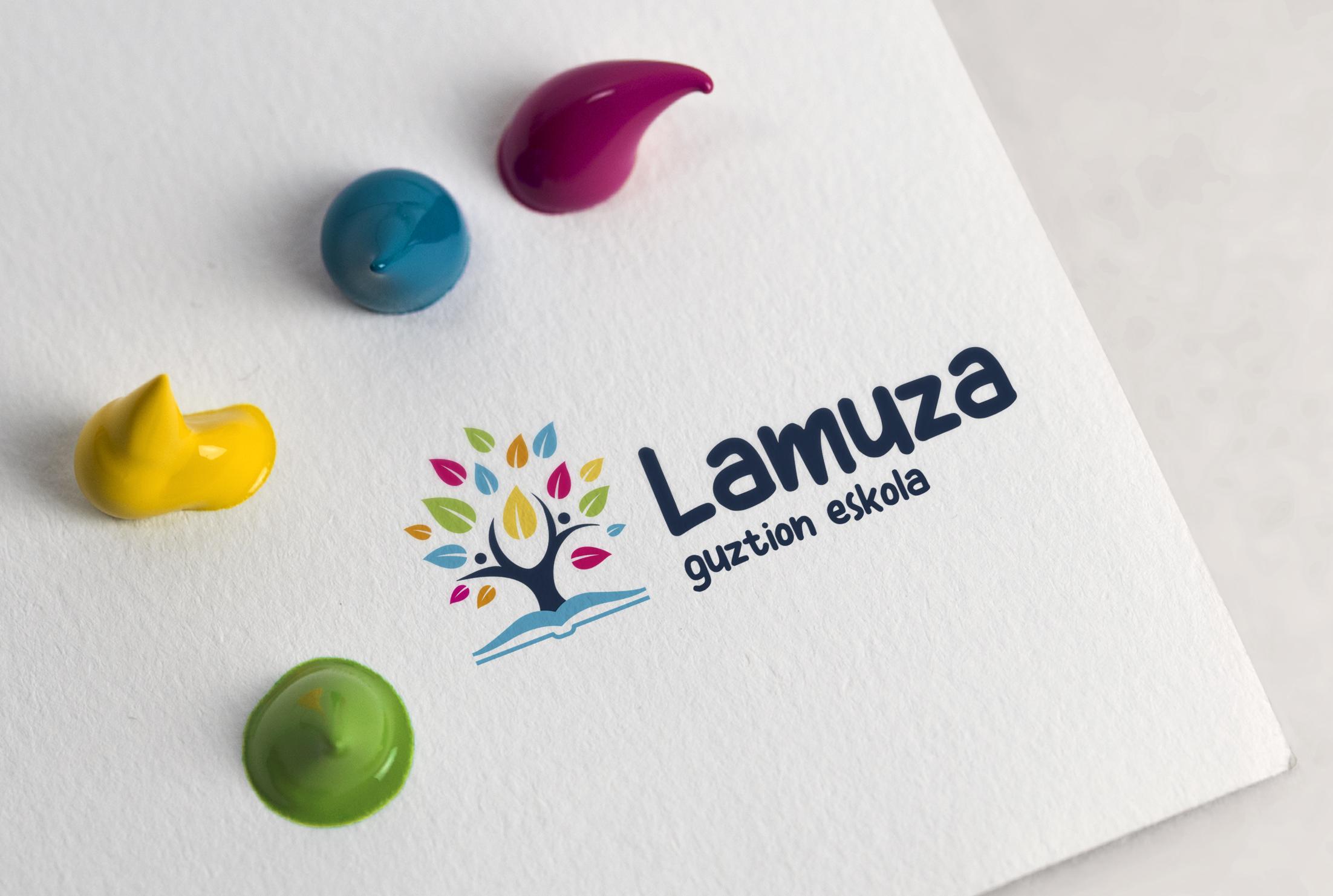 LAMUZA ESKOLA diseño del logotipo
